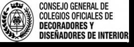 CONSEJO GENERAL DE COLEGIOS OFICIALES DE DECORADORES Y DISEÑADORES DE INTERIORES